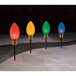 tall christmas light stakes 4 ct large bulb pathway lights kmart
