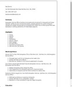 Professional Immigration Services Officer Templates To