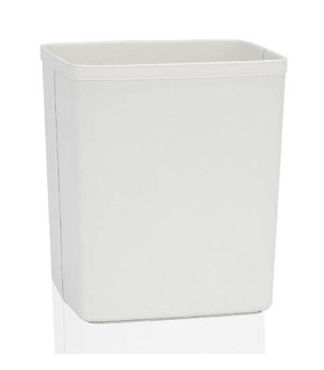 corbeille de bureau corbeille à papier de bureau en similicuir blanc wadiga com