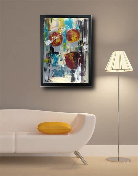 quadri con cornice quadro su tela astratto 50x70 con cornice zz001 sauro bos