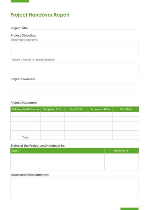 project handover report  designs report