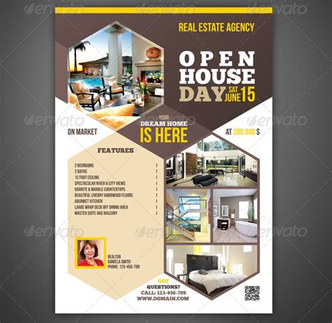House Brochure Template by Open House Flyer Templates 39 Free Psd Format