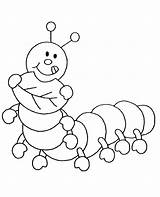 Coloring Insects Caterpillar Children Cartoon Drawing Hungry Printable Template Funny sketch template