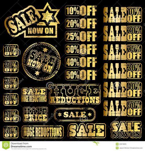 Salle Stampys : Gold Sale Rubber Stamps Cartoon Vector