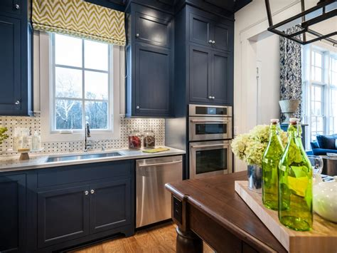 kitchen paint colors with blue countertops colorful painted kitchen cabinet ideas hgtv s decorating 9505