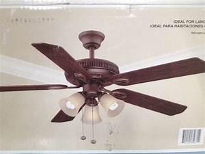 Hampton bay inch glendale ceiling fan quiet and wobble