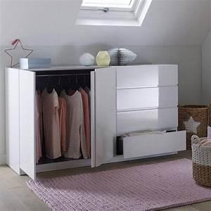 Commode 150 Cm : armoire sp cial soupente 2 portes penderie 4 tiroirs l o la redoute interieurs rangement ~ Teatrodelosmanantiales.com Idées de Décoration