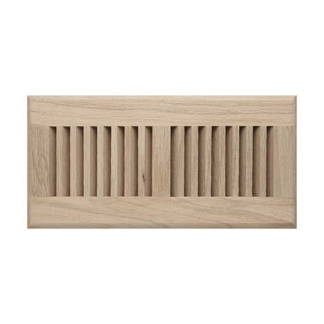 Roundover Unfinished Wood Floor Grille   Registers   Hardware
