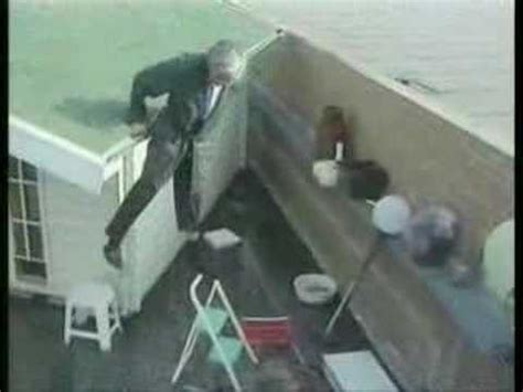 man falls  roof youtube
