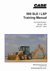 Case 595 Sle    Lsp Backhoe Loader Training Manual Pdf