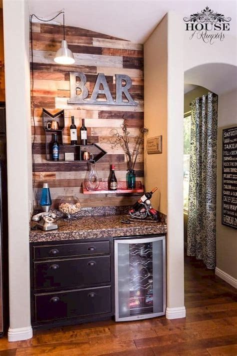The black banner with fun lettering in different fonts contrasts with the staid colonial coffee station table below it. 60 Amazing Mini Coffee Bar Ideas for Your Home (45) - Ideaboz