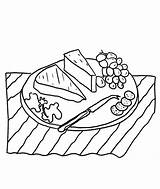 Coloring Cheese Slice Anycoloring sketch template