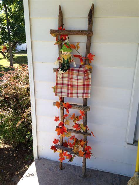 Fall decorated ladder Fall decor Fall crafts diy Fall
