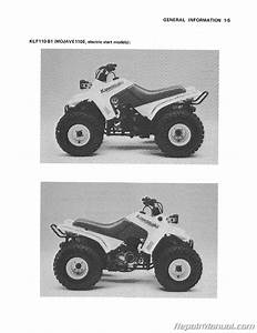 Kawasaki Klf110 Mojave Manual 1987 Atv