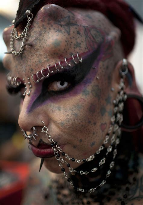woman   extreme body modifications