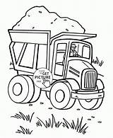 Coloring Pages Dump Transportation Truck Preschool Toddlers Trucks Sheets Wuppsy Printables Heart Printable Valentine Getdrawings Semi Tractor Land Valentines Getcolorings sketch template