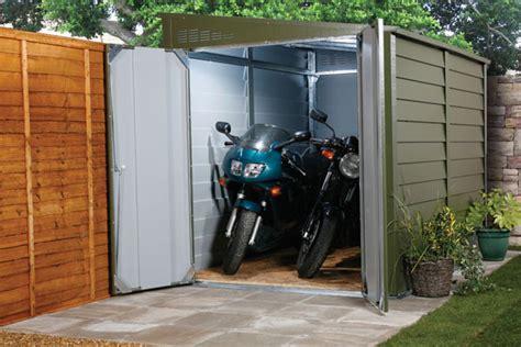 motorbike sheds  secure motorcycle garages  home storage