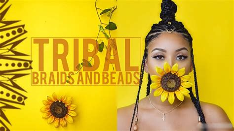 tribal braids beads youtube