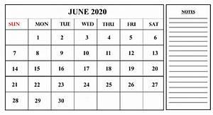 Blank Printable Calendars 35 Best Printable June 2020 Calendars With Holidays