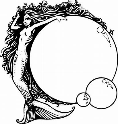 Mermaid Bubbles Clip Svg Clipart Vector Royalty