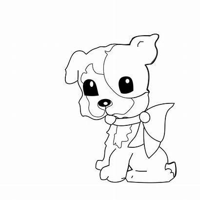 Coloring Dog Pages Shiba Inu Puppy Printable