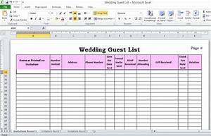 5 ways to plan your weddingivy ellen wedding invitations for Wedding invitation rsvp spreadsheet