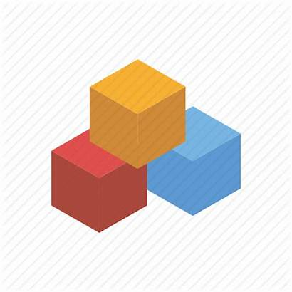 Playing Blocks Building Icon Cubes Toys Class