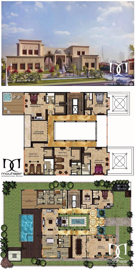 private villa dubai mahermouhajer villa plan private