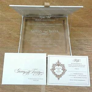 Vinas invitation acrylic invitation clear perspex for Foil wedding invitations sydney
