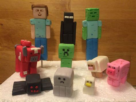 custom edible fondant minecraft figures cake toppers