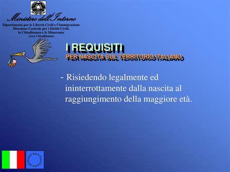 Ministero Dell Interno Immigrazione by Ppt La Cittadinanza Italiana Powerpoint Presentation