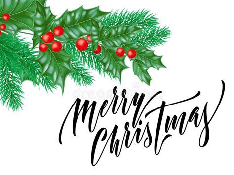 Merry Christmas Trendy Quote Calligraphy On White Premium