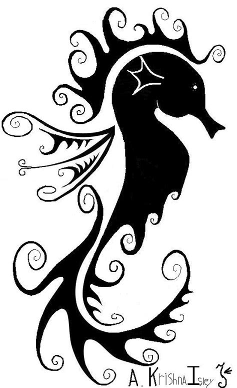 sweet sea horse tatoo o mine by ~krishna76 on deviantART | Tattoos | Seahorse tattoo, Seahorse