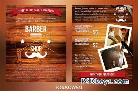 barber shop  sided flyer    photoshop