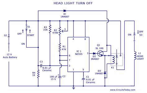 Automobile Wiring Diagram Light Switch by Automatic Shut Light Circuits Great Installation Of
