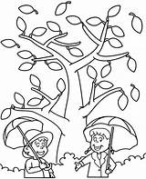 Autumn Coloring Pages Fall Printable Easy Weather Sheet Topcoloringpages Children sketch template