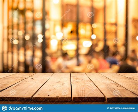 wood texture table top counter bar  blur light gold