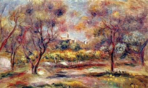 Landscape At Grasse 1911 By Pierre Auguste Renoir 1841