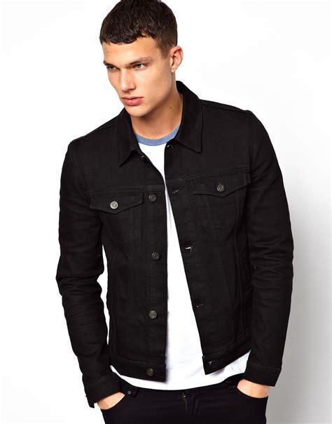 asos fit vest in black lyst asos denim jacket in fit in black for