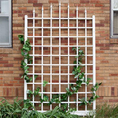 Shop Garden Trellis by Dura Trel Winchester Wall Mounted White Vinyl Trellis