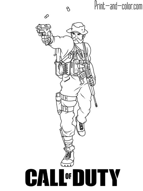 Call of duty coloring pages | Print and Color.com