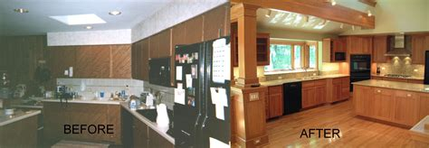 Painting Kitchen Cabinets Ideas Home Renovation - 70s kitchen remodel before and after affordable architecture for small galley 70s bathroom