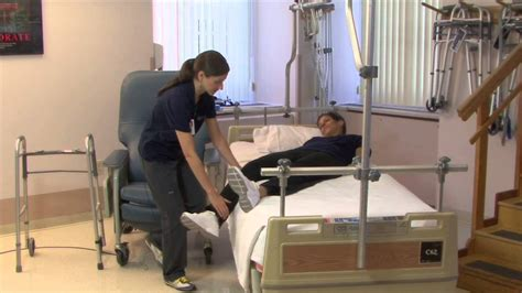 occupational therapy getting from bed to chair total hip