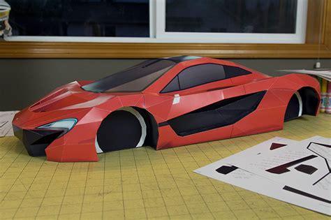 mclaren p visual spicer supercar papercraft  les voitures