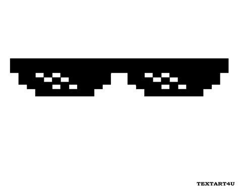 Thug Life Meme - ascii art deal with it glasses thug life mlg shades cool ascii text art 4 u
