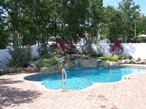 Inground Swimming Pool with Waterfall