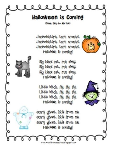 93 best images about back to school grade on 773 | 3f6d780c576ad9aa4fc846fd908b5c40 halloween poems preschool halloween