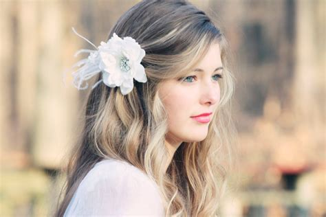 Bridal Hair Flower Fascinator White Bridal Hair By