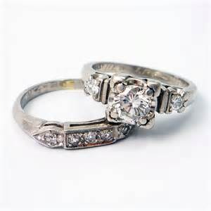 onyx engagement rings platinum vintage retro 1940s by laurenrosedesign on etsy