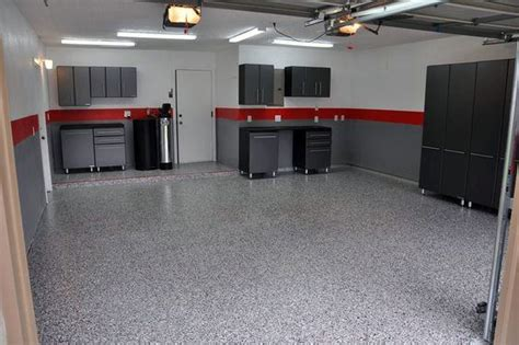 red and black garage cabinets grey paint for garage walls interior paint stripes i